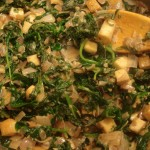 Mustard Greens and Tofu Curry