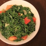 Curried and Creamed Kale for Gojee Potluck