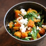 Sweet Potato, Feta & Mizuna Greens Palya (South Indian Stir-Fry)