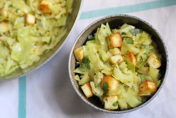 Paneer and Cabbage Stir-Fry