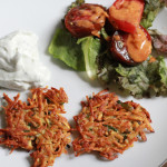 Spicy and Sweet Yam Latkes for Thanksgivukkah