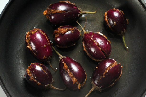 Indian Stuffed Eggplants (Bharwan Baingan)
