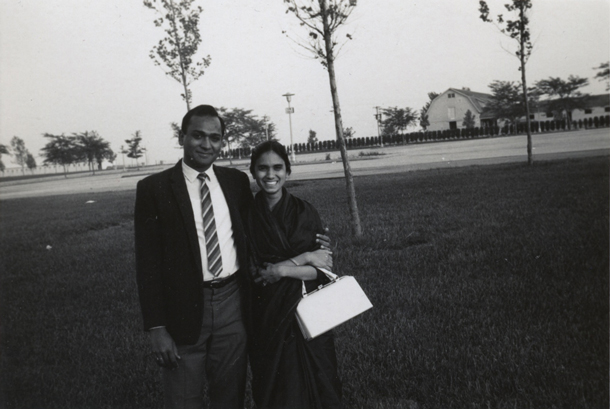 My parents in Urbana-Champaign, Illinois where they got married.