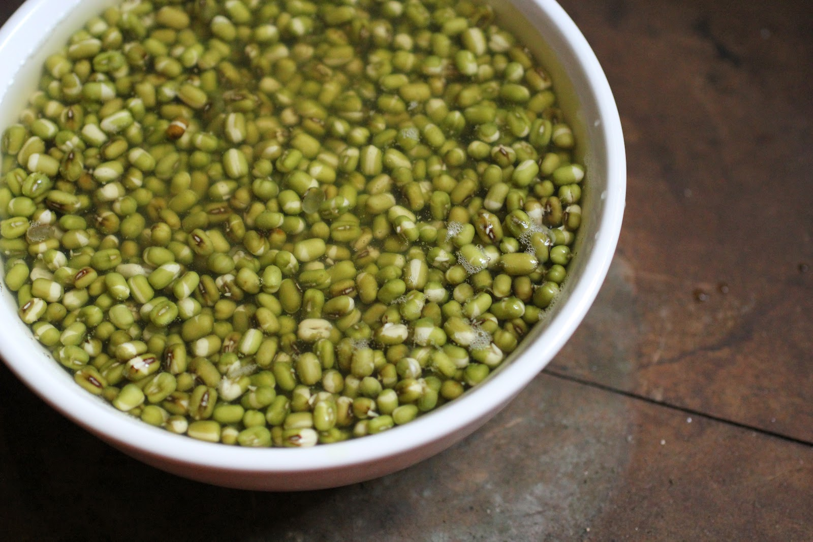 soaked moong dal or mung bean